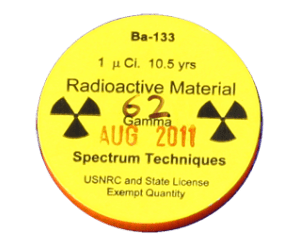 Encapsulated Cesium 137 (Cs-137) check source