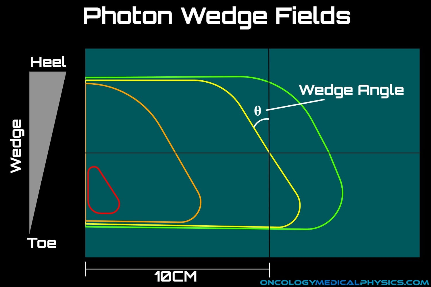Dose distribution of a photon wedge field.